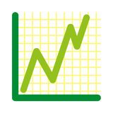 Vector success graph simple background Stock Photo