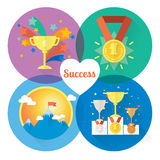 Vector success and win concepts. Isolated illustration and modern design element vector illustration