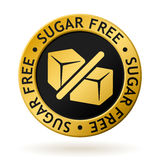 Vector sugar free gold medal. Vector gold medal with symbol of sugar free Royalty Free Stock Image