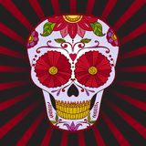 Vector Sugar Skull can be used for T-short, bag. And other clothes Royalty Free Stock Photos