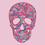 Vector Sugar Skull con el ornamento Foto de archivo libre de regalías