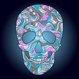 Vector Sugar Skull con el ornamento Fotografía de archivo