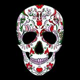 Vector Sugar Skull with ornament Royalty Free Stock Photography