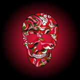 Vector Sugar Skull with ornament. Vector Sugar Skull consist of ornament. Can be used for print t-shirt, halloweens card Royalty Free Stock Photos
