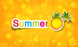 Vector summer. Realistic cut, takes the background color Royalty Free Stock Photo