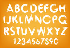 Vector summer alphabet typography set with numbers Royalty Free Stock Photography