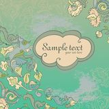 Vector summer amazing card with ornate flowers. Royalty Free Stock Photos