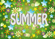 Vector, Summer background. Colors background with the name of the season Royalty Free Stock Photos