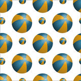 Vector summer background with beach balls Royalty Free Stock Photos