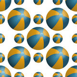 Vector summer background with beach balls Royalty Free Stock Photography