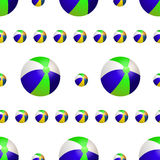 Vector summer background with beach balls Stock Image