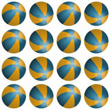 Vector summer background with beach balls Stock Photo