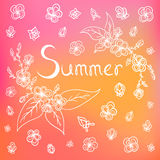 Vector summer background Stock Images