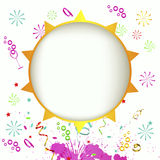 Vector summer background. With the sun Stock Photo
