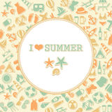 Vector summer background, Royalty Free Stock Photo