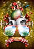 Vector Summer Beach Party Flyer Design. Royalty Free Stock Photo