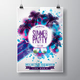 Vector Summer Beach Party Flyer Design with typographic Stock Images