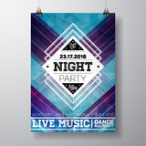 Vector Summer Beach Party Flyer poster template on  abstract background. Eps 10 illustration Royalty Free Stock Photography