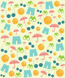 Vector Summer Beach Symbols Pattern Royalty Free Stock Image