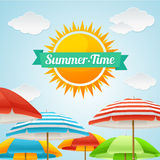 Vector Summer Card Royalty Free Stock Images