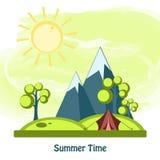Vector summer design Royalty Free Stock Photography