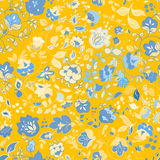 Vector summer doodle seamless pattern. Floral background Royalty Free Stock Photo