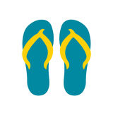 Vector summer flip flops. Cute summer flat vector iilustration with flip flops Royalty Free Stock Photo