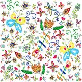 Vector summer floral background Royalty Free Stock Photos