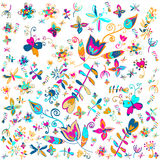 Vector summer floral background vector. Stock Image