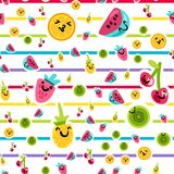 Summer Fruits Patterns Royalty Free Stock Photos
