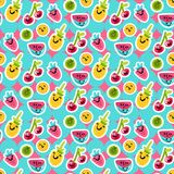 Summer Fruits Patterns Royalty Free Stock Photography