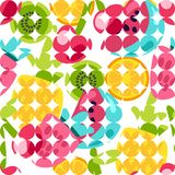 Summer Fruits Patterns. Vector Summer Fruits Patterns in cartoon style. Fruits and berries. Sweet backdrop vector illustration