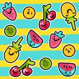 Summer Fruits Patterns vector illustration