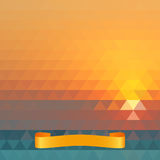 Vector summer geometric background. Stock Photos