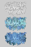 Vector summer hand lettering Stock Photo