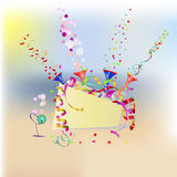 Vector summer holiday background, invitation Stock Photos