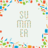 Vector summer holiday banner with place for your content. Stock Images