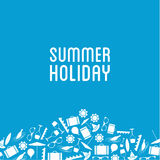 Vector summer holiday banner with place for your content. Royalty Free Stock Photos