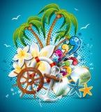 Vector Summer Holiday Flyer Design Stock Photos