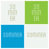 Vector summer holiday typography. Typography composed of summer Royalty Free Stock Image