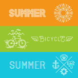 Vector summer holidays banners Stock Photo