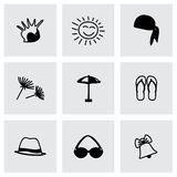Vector Summer icon set Royalty Free Stock Photo
