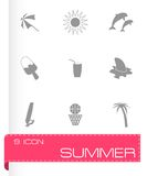 Vector summer icons set Stock Photo