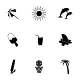 Vector summer icons set Royalty Free Stock Photography