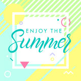 Vector summer illustration Royalty Free Stock Photos