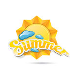Vector summer label. summer icon with sun. Royalty Free Stock Image