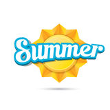 Vector summer label. summer icon with sun. Royalty Free Stock Photo