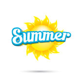 Vector summer label. summer icon with sun. Royalty Free Stock Images