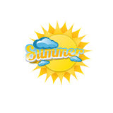 Vector summer label. summer icon with sun. Stock Images