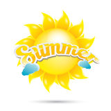 Vector summer label. summer icon with sun. Stock Image